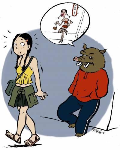 Une fille en jupe n'est pas une pute, elle est juste féminine.