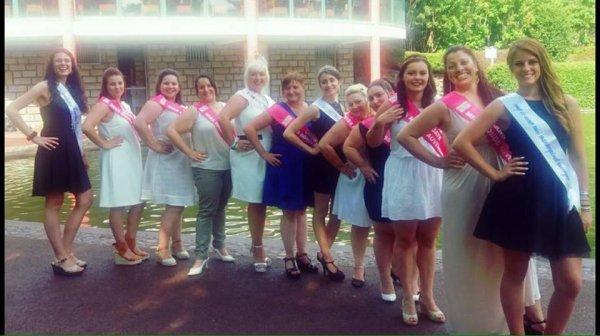 groupe de  miss ronde auvergne 2016
