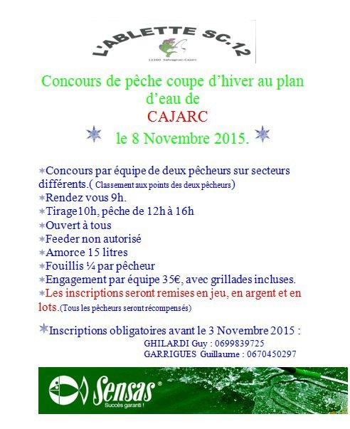 concours pêche au coup cajarc
