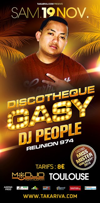 TOULOUSE ★☆★ DISCOTHEQUE GASY TOUR ® ★☆★