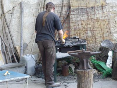 La forge installée au dessus de la cave du frou