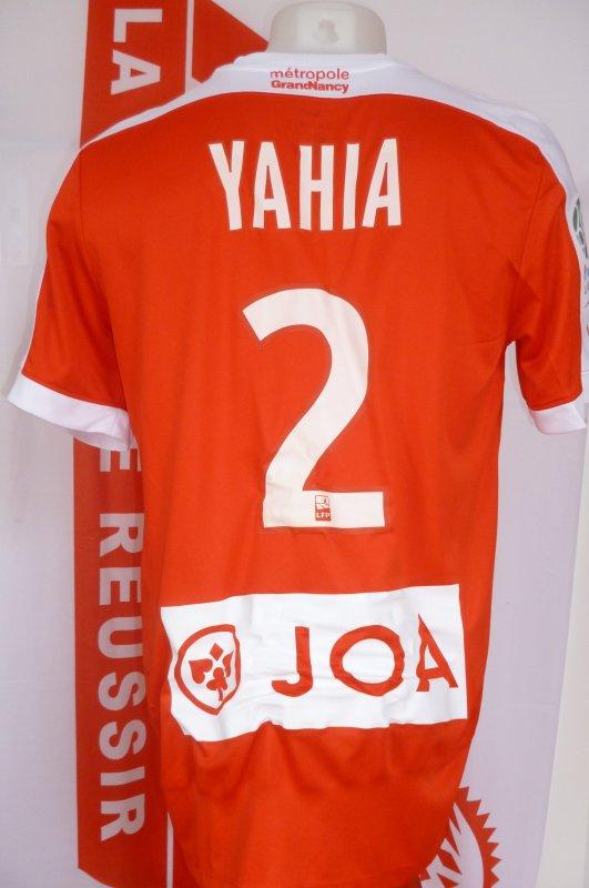 Dos du maillot porté par YAHIA lors du match AUXERRE ASNL saison 2017 2018