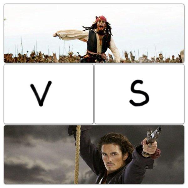 Capitaine Jack Sparrow vs Will Turner