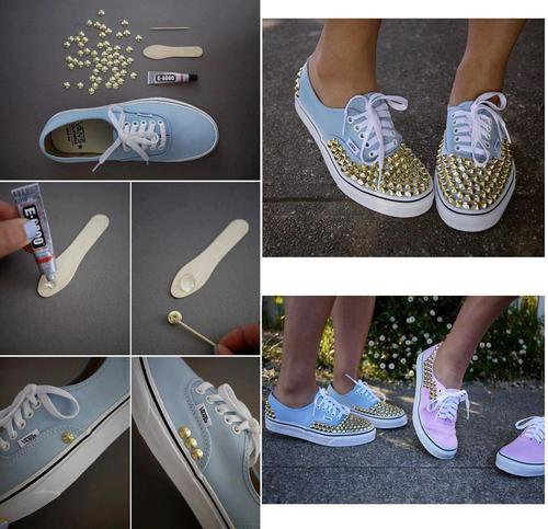 """ Comment customiser des chaussure trop simple ? """