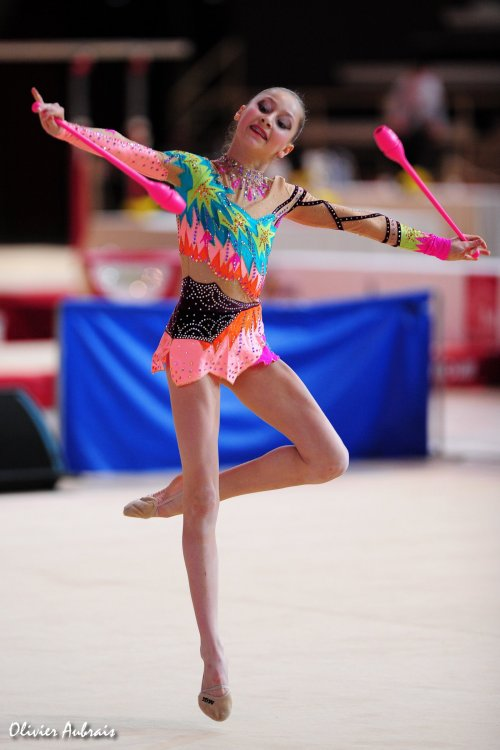 6124. Chpt de France Juniors : Camille Ay (Evry), 4ème : 48,050 pts
