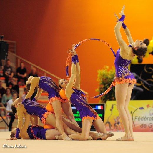 6184. Championnat de France DN : Montpellier  (DN1), 10ème, 78,100 pts