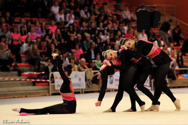 6233. Championnat de France DF1 seniors: Canet, 17ème, 15,700 pts