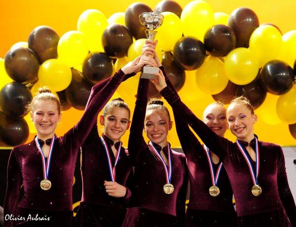 6273. Championnat de France DF1 cadettes : Paris centre, 1er, 19,850 pts