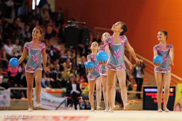 6298. Championnat de France DF1 benjamines : Thiais, 14ème, 14,050 pts