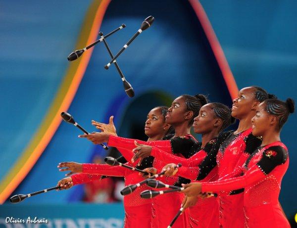 6385. Les championnats du Monde de GR à Kiev : l'Angola