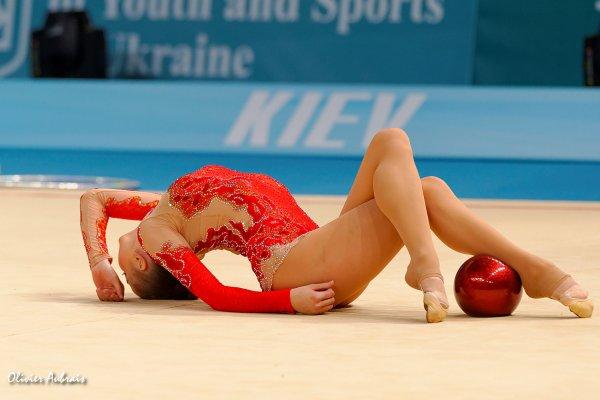 6391. Les championnats du Monde de GR à Kiev : Alina Maksymenko