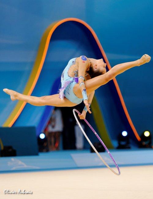 6393. Les championnats du Monde de GR à Kiev : Lucille Chalopin