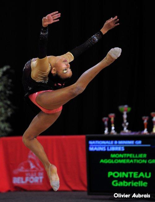 6527. Chpt de France Indiv Nat B minimes : Gabrielle Pointeau (Montpellier), 23ème, 14,249 pts