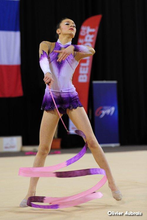 6554. Chpt de France Indiv Nat B cadettes : Justine Guillaud (Bourgoin Jallieu), 27ème, 14,650 pts