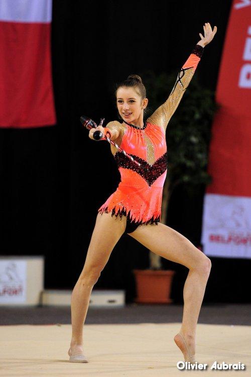 6570. Chpt de France Indiv Nat B cadettes : Emilie Oddoero (Corbas), 13ème,19,083 pts