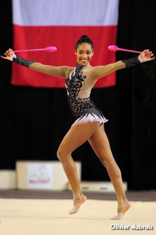 6574. Chpt de France Indiv Nat B cadettes : Eva Lambert N'Doung (Chambéry), 9ème,19,549 pts