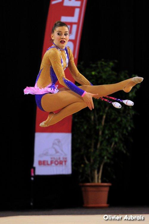 6576. Chpt de France Indiv Nat B cadettes : Emma Schirmann (Pfastatt), 7ème,19,782 pts