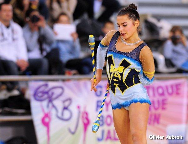 6580. Chpt de France Indiv Nat B cadettes : Laura Deligny (Bourgoin Jallieu), 4ème, 20,149 pts