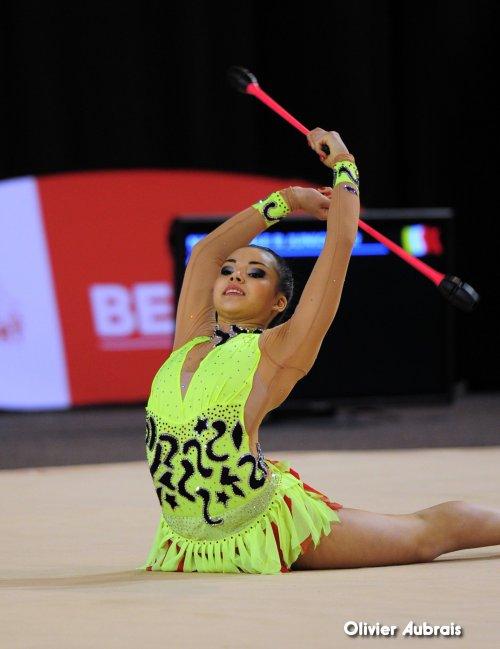 6607. Chpt de France Indiv Nat B juniors : Sofia Jamali (Belfort), 3ème, 23,499 pts