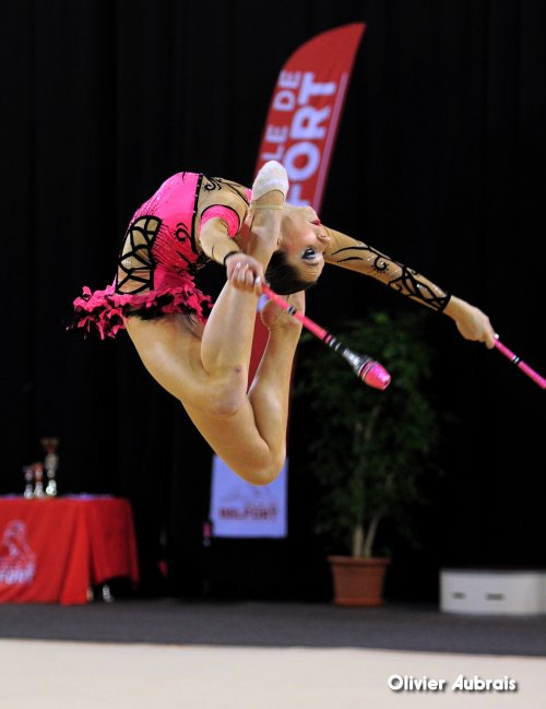 6608. Chpt de France Indiv Nat B juniors : Elise Bredin (Belfort), 2ème, 23,999 pts