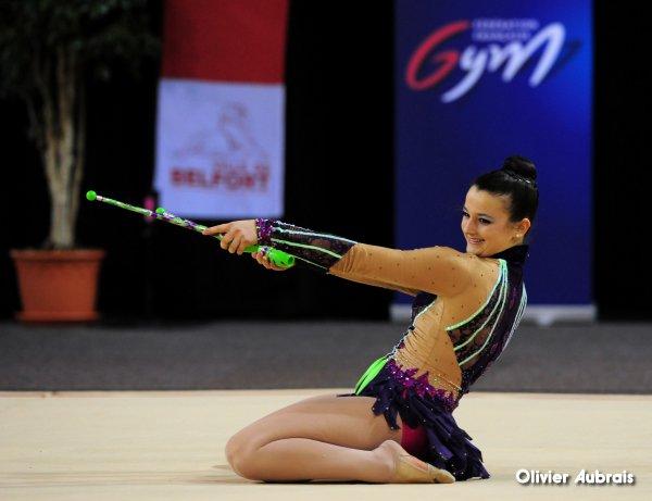 6609. Chpt de France Indiv Nat B juniors : Laurie-Anne Goavec (Orléans), 1ère, 24,016 pts