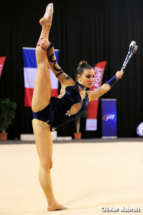 6638. Chpt de France Indiv Nat B seniors : Elise Razzolini (Besançon), 2ème, 24,416 pts