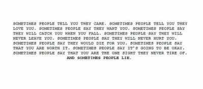 Sometime people say..
