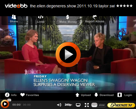 ~ Taylor était chez Ellen D...