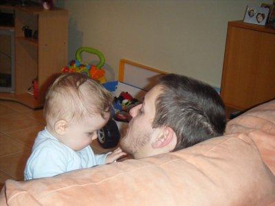 Loann et son papa