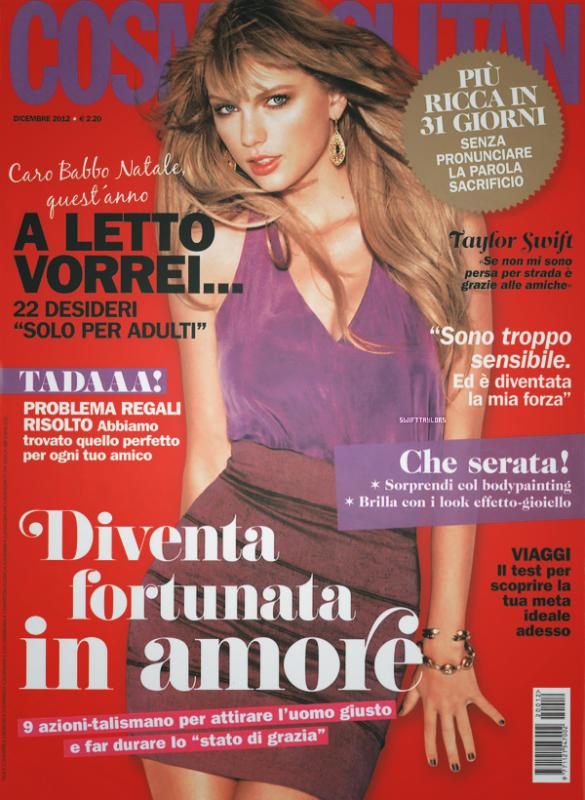 Notre miss fait la couverture de l'édition italienne de Cosmopolitan où elle est resplendissante !
