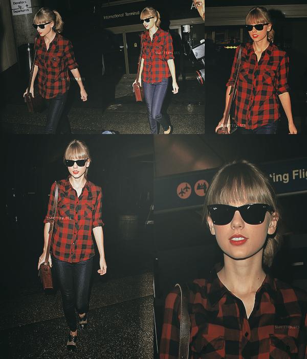 le 01.12 Taylor est arrivée à LAX (l'aéroport de LA), ou elle participera au Kiss FM  Jingle Ball ce soir ! J'aime bien ses lunettes et pour moi c'est n'es ni un TOP ni un BOF. Et toi : TOP, BOF ou FLOP ?