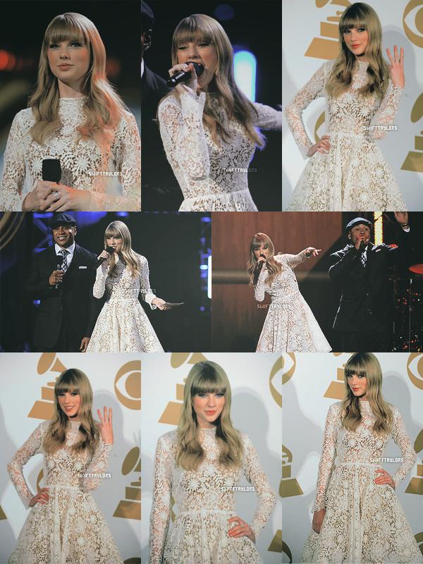 Le 05.12 Taylor a présenté les nominations des Grammy Awards 2013, elle portait une magnifique robe en dentelle et arborait sa toute nouvelle coupe de cheveux ! A la suite de cette soirée la belle a décroché trois nominations.