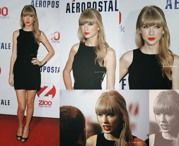 Le 07.12 Taylor était présente aux Z1000 2012 Jingle Ball portant une sublime robe noire ! Elle a chanté Everything Has Changed avec Ed Sheeran. TOP ou FLOP ?