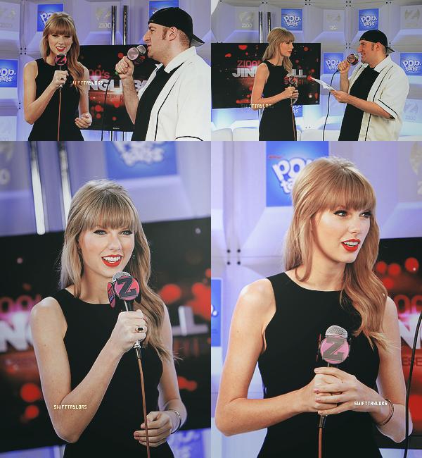 Le 07.12 Taylor a donné une petite interview dans la Z100 Artist Gift Lounge. TOP !