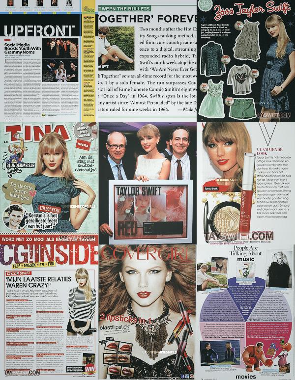 Taylor dans les magazines en décembre. Le 15.12 la miss a prit le temps de parler avec ses fans à l'extérieur des Mülheim Studios à Cologne (Allemagne), TOP !