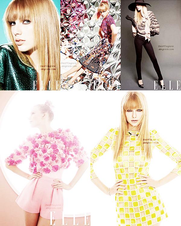 Découvres le photoshoot de Taylor pour le magazine ELLE. Elle est super belle, j'adore les tenues ! Tu en penses quoi ?