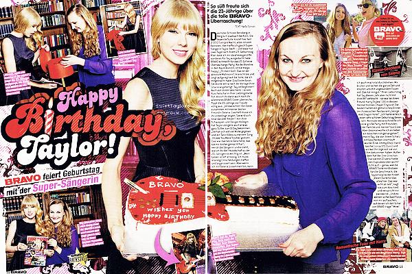 Taylor était dans l'édition de février du magazine Billboard et dans celle de décembre de BRAVO (magazine allemand) ! Que penses tu des scans ? De la tenue de T-Swizzle ?