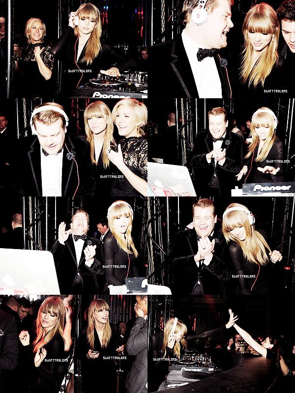 Le 20.02 Tay s'est rendue à l'After Party des BRIT Awards, où elle a joué les DJ et a tapé dans la main de miss Lana Del Rey bien que ce soit elle qui ai remporté le prix à sa place. Pas rancunière notre Taylor ! Je lui met un TOP et toi ?