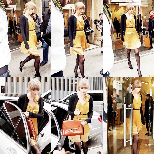 Le 21.02 notre miss a été vue sortant des studios de la radio Kiss FM portant une sublime robe jaune. TOP !