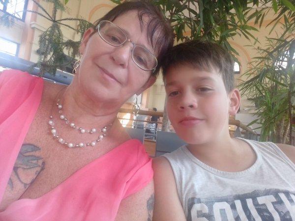 avec mon petit fils