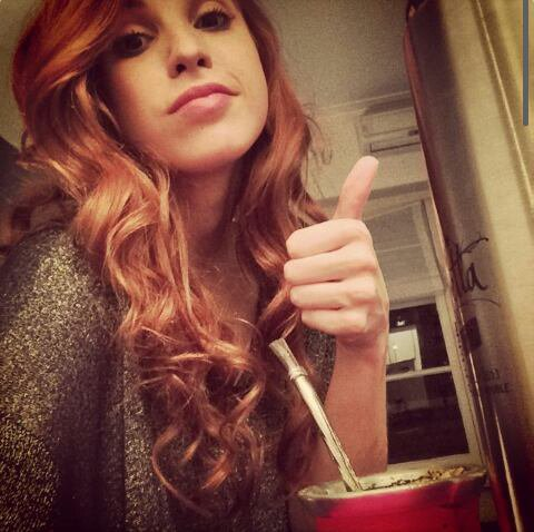 Cande via son instagram ♥
