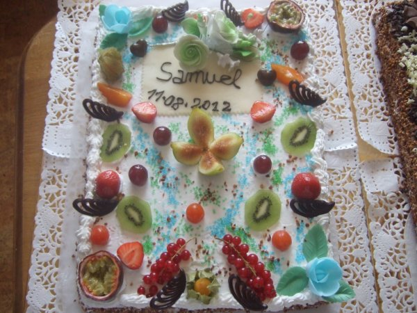 gateau fruits