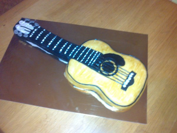 gateau guitare