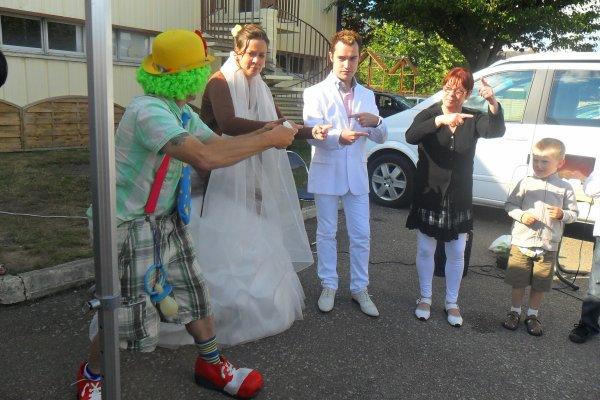 prestation mariage avec mimolette et domino