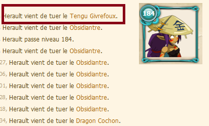Mise au point ! Captures obsi, Kamas de Glace et Tengu !