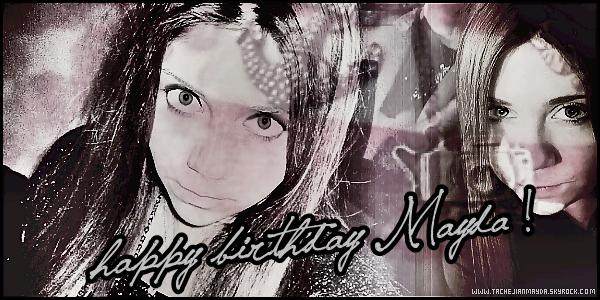 . Happy Birthday__ Le 18 juin était l'anniversaire de notre belle Mayda Tachejian ! Message de la part de M. le jour de son anniversaire ; « Merci pour tout les souhaits d'anniversaires. Je vous aime tous. »  .