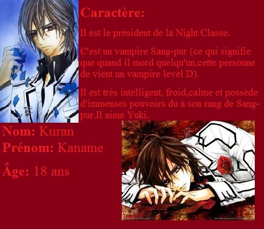 Vampire knight - Kaname Kuran