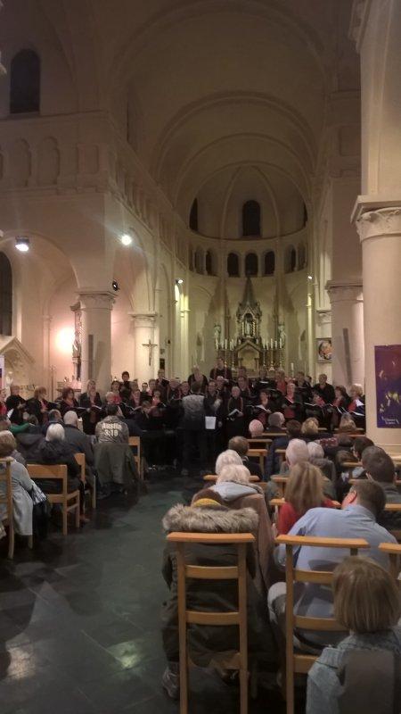 Eglise de Boussoit comble pour le concert de Noël 2019
