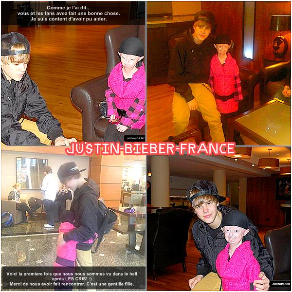 .  Dernier jour en europe pour Justin! .