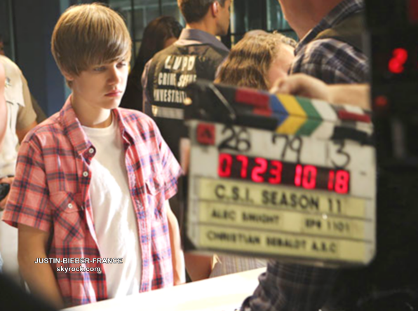 .  Justin, de retour dans CSI -Les Experts-. .